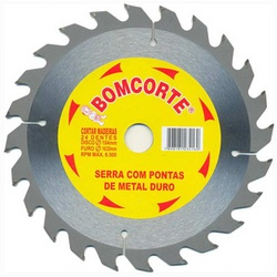 Disco De Serra Circular 4.3/8 Pol X 20mm C/ 24 Dentes 149204 - Santec