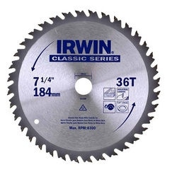 Disco De Serra Circular 7.1/4'' X 36dts Irwin - Santec