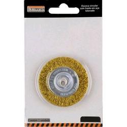 Escova De Aço Circular C/ Haste 75mm Ref-5037360 Starfer - Santec