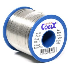 Estanho De Solda Cobix 1,0mm 60 X 40 500Gr - Santec