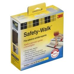 Fita Antiderrapante Preta 50mm X 5mts Safety Walk - Santec