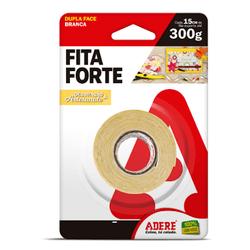 Fita Dupla Face Fita Forte Transparente 12mm X 1,50 mt Adere - Santec