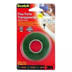 Fita Dupla Face Transparente Fixa Forte 12mm x 2mts - Santec