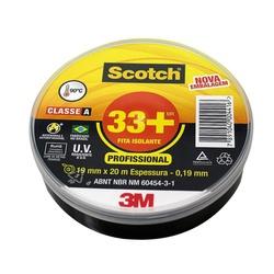 Fita Isolante Preta Scoth 33 + 19mm X 20mts - Santec
