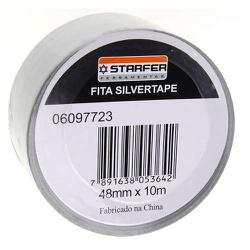 Fita Silver Tape 45mm X 10mts Cinza - Santec