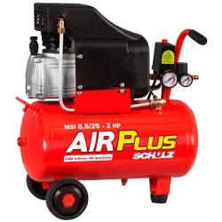 Compressor de Ar 8,5 Pés Motor 2hp 25 Litros Schulz 220V - Santec