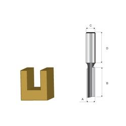 Fresa Paralela 6mm Para Tupia Elétrica D-09282 Makita - Santec