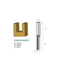 Fresa Paralela 6mm Para Tupia Elétrica D-09307 Makita - Santec