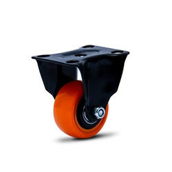 Rodízio Fixo 210 Laranja com Placa Capacidade 50Kg Colson - Santec