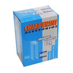 Grampo Para Grampeador Pneumático G-25Pcw Chiaperini - Caixa... - Santec