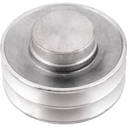 Polia de Alumínio 100mm com 2 Canais B - Mademil - Santec