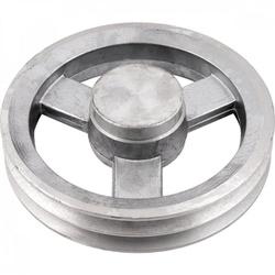 Polia de Alumínio 150mm com 2 Canais B - Mademil - Santec
