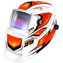 Máscara De Solda Com Escurecimento Automático Racing 35 Bran... - Santec