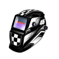 Máscara De Solda Com Escurecimento Automático Racing 45 Pret... - Santec