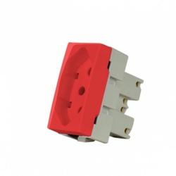 Módulo Tomada 10A 2P+t Vermelho Linha Sleek Margirius - Santec