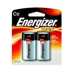 Pilha Média C2 Alcalina Com 2 Peças Energizer - Santec