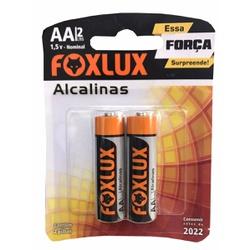 Pilha Pequena AA Alcalina Com 2 Peças 95.02 Foxlux - Santec