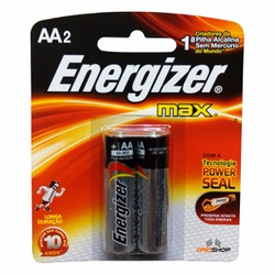 Pilha Pequena AA Alcalina Com 2 Peças Energizer - Santec