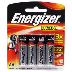 Pilha Pequena AA Alcalina Com 4 Peças Energizer - Santec