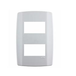 Placa 2 Módulos Separados C/ Suporte 4 X 2 Slim 82080 - Santec