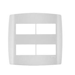 Placa 4 Módulos Separados C/ Suporte 4 X 4 Slim 83070 - Santec