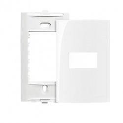Placa 4 X 2 Com 1 Posto Horizontal Branco Linha Sleek Margir... - Santec