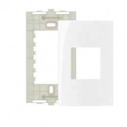 Placa 4 X 2 Com 2 Postos Branco Linha Sleek Margirius - Santec