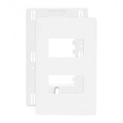 Placa 4 X 2 Com 2 Postos Separados Branco C/ Suporte Linha I... - Santec