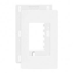 Placa 4 X 2 Com 3 Postos Branco C/ Suporte Linha Infiniti Ma... - Santec