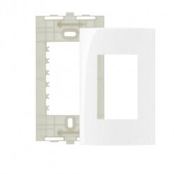 Placa 4 X 2 Com 3 Postos Branco Linha Sleek Margirius - Santec