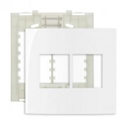 Placa 4 X 4 Com 4 Postos Branco Linha Sleek Margirius - Santec