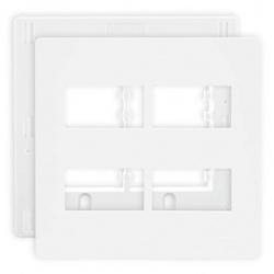 Placa 4 X 4 Com 4 Postos Separados Branca C/ Suporte Linha I... - Santec