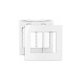 Placa 4 X 4 Com 6 Postos Branco Linha Sleek Margirius - Santec