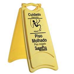 Placa De Sinalização Piso Molhado 9248B Superpro - Santec