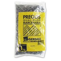 Prego 8 X 8 Com Cabeça - Pacote 1Kg Gerdau - Santec
