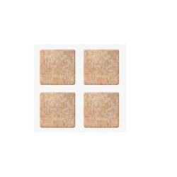 Protetor Adesivo Feltro Quadrado Marrom 35 X 35mm C/ 4 Peças... - Santec