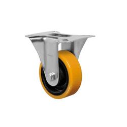 Rodízio Amarelo Fixo Com Placa Fl 614 Pn Schioppa - Santec