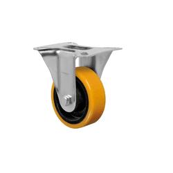 Rodízio Amarelo Fixo Com Placa Fl 514 Pn Schioppa - Santec
