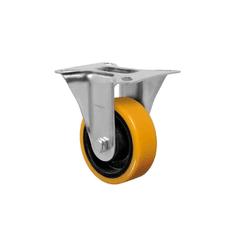 Rodízio Amarelo Fixo Com Placa Fl 414 Pn Schioppa - Santec