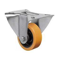 Rodízio Amarelo Fixo Com Placa Fl 312 Pn Schioppa - Santec