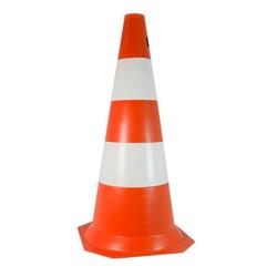 Cone de Sinalização Flexível 75cm Laranja e Branco - Santec