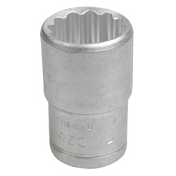 Soquete Estriado Curto 1/2'' X 18mm 204009BBR - Santec