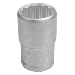 Soquete Estriado Curto 1/2'' X 20mm - Santec