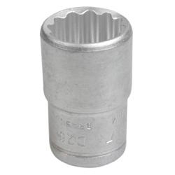Soquete Estriado Curto 1/2'' X 20mm 204011BBR - Santec