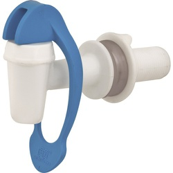 Torneira Plástica Para Filtro Branca/Azul - Rosca 3/8'' - Santec