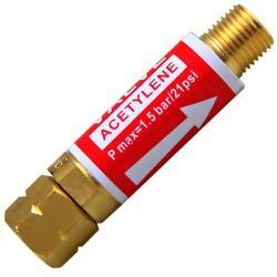 Válvula Corta Fogo P/ Regulador De Pressão De Acetileno - Santec