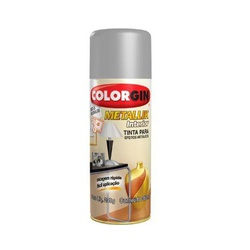 Tinta Spray Metallik Prata 350ml 53 Colorgin - Santec