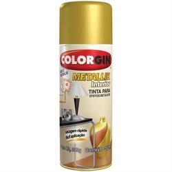 Tinta Spray Metallik Ouro 350ml 52 Colorgin - Santec