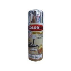 Tinta Spray Metallik Cromado 350ml 51 Colorgin - Santec