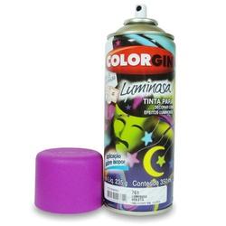 Tinta Spray Luminosa 350ml Violeta 761 Colorgin - Santec